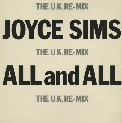 Joyce Sims - All And All (The U.K. Re-Mix) Capa