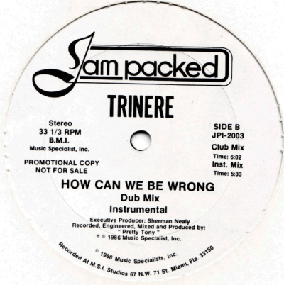 Trinere - How Can We Be Wrong (12'' Vinyl)-(Side B)1986