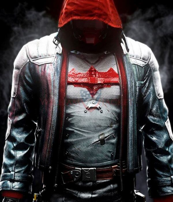 Batman Logo Knight Red Hood Jacket With Vest