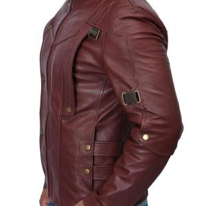 Guardians Of The Galaxy Chris Pratt Maroon Leather Jacket