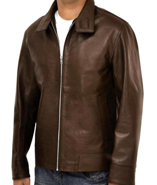 X-Men Magneto Brown Leather Jacket