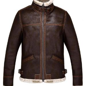 Resident Evil 4 Leon Kennedy Brown Shearling Jacket