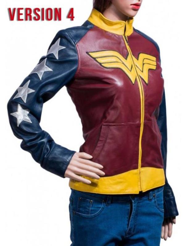 Wonder Woman Motorcycle Leather Jacket