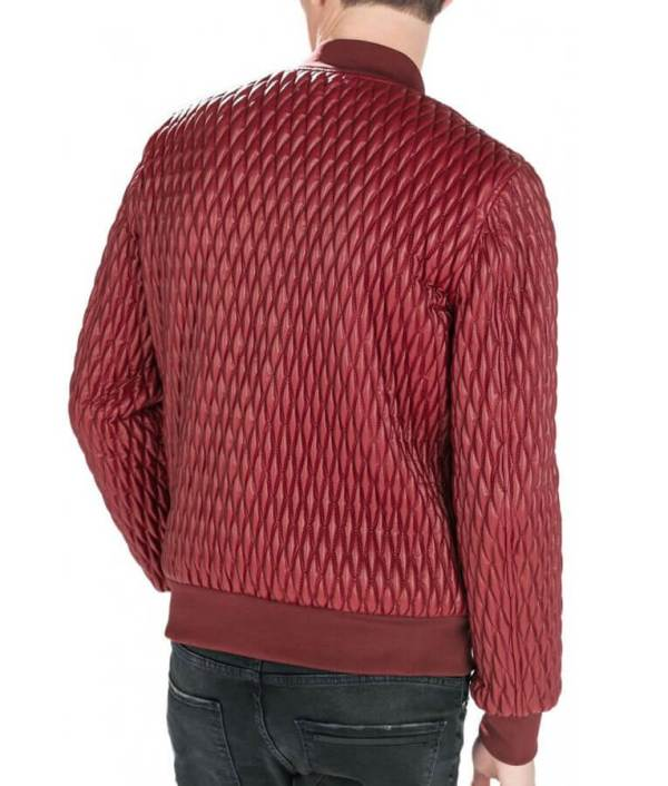 Red-Quilted-Faux-Leather-Bomber-Jacket-WilliamJacket