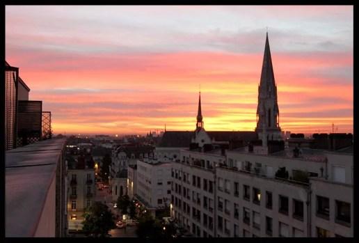 Levé du soleil à Nantes, Rue du Calvaire 02 par William Jezequel