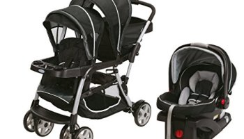 Graco Ready2Grow LX Duo Double Baby Stroller Car Seat Travel System Gotham