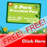 Time to get your FREE Busch Gardens Williamsburg – Preschool Pass 2018