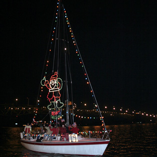 Yorktown Lighted Boat