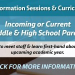 Parent Information Sessions & Curriculum Fairs for WJCC Parents of rising Middle and High School Students