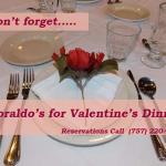 doraldo's valentines dinner