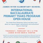 Intro Meeting for Parents interested in International Baccalaureate Primary Years Program at James River Elementary School