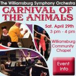 carnival of the animals williamsburg symphony orchestra