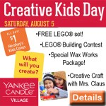 Creative Kids Day at Yankee Candle