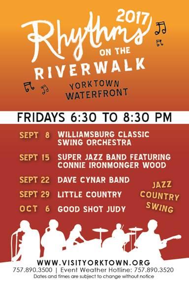 rhythm on the riverwalk yorktown