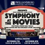 Symphony at the Movies – kids 2 and under are free, popcorn and screens with projections plus music from Star War to Trolls