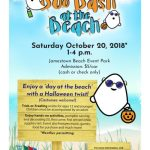 CANCELLED -Boo Bash at Jamestown Beach with Trick or Treating, Pumpkin Carving and more - Oct. 20