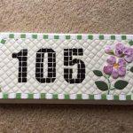 Mosaic Address Sign artfully