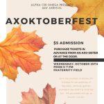 Alpha Chi Omega's AXOktoberfest, Oct. 25, 2017