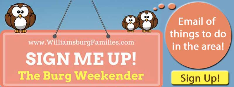 sign up williamsburg enewsletter