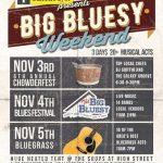 Big Bluesy Weekend – Chowderfest, Blues Festival and Bluegrass – Nov 3-5th at the Shops at High Street