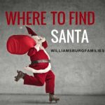 santa in williamsburg, yorktown, newport news