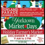 Yorktown Holiday Market & Toyland Parade – Huge family events Sat Dec 9th- details here: