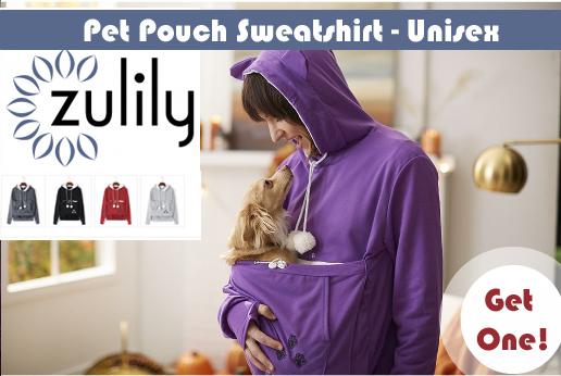 puppy pouch sweatshirt