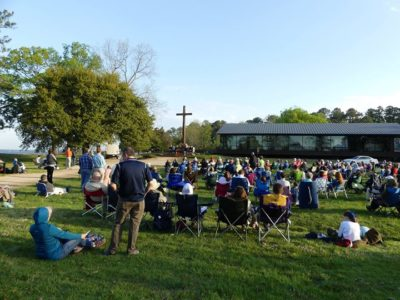 Easter Sunrise Service on Jamestown Island'