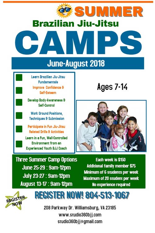 Brazilian Jiu-Jitsu Summer Camps
