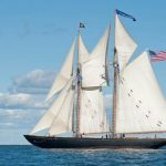 Schooner VIRGINIA visiting Yorktown April 27, 28, 2019- During Pirates Invade Yorktown