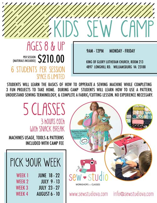 Sew Studio Summer Camps