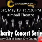 Charity Concerts presented by Rotary of James City County – Brasswind May 19th – Full Line Up: