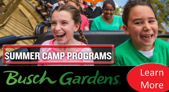 Summer Camps At Busch Gardens Williamsburg Full Day Camps Extended Care