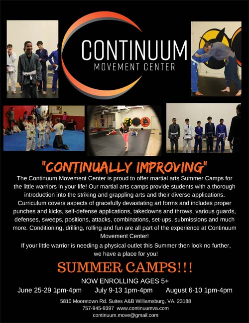 The Continuum Movement Center Martial Arts Summer Camps
