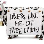 Chick-fil-A Offers Free Entrees to Cow-Dressed Customers - July 9