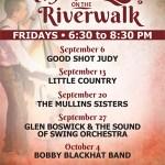 Rhythms on the Riverwalk FREE concert series in Yorktown beginning Sept. 6!