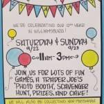 Trader Joe's Birthday Party – Saturday & Sunday Sept 22 & 23