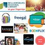 Williamsburg Regional Library - List of things that you can do remotely including ebooks, audiobooks, videos & more!