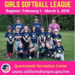 WilliamsburgRec Girls Youth Softball is Registration - Learn More: