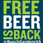 Busch Gardens is offering FREE beer for Members and Annual Pass Holders March 23 & 24