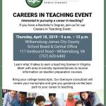 Are you interested in pursuing a career in teaching? Attend this event...