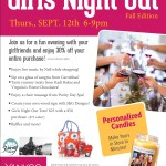 Girls Night Out at Yankee Candle - Shopping, Savings & Raffles - Sept. 12