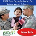 FREE Admission to Busch Gardens Williamsburg to US Veterans and 3 guests - Learn more!