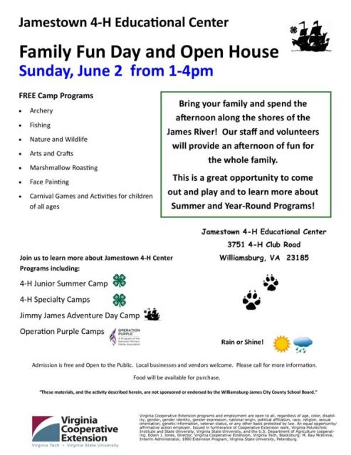 jamestown-4-H-free-event