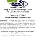 Sports Physicals - Open to all WJCC Middle & High School Students on June 4