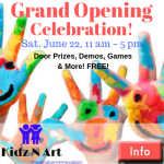 Kidz N Art GRAND OPENING Celebration June 22!