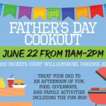 Father's Day Cookout - FREE event on Sat. Jun 22, 2019  Everyone is welcome!