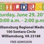 5th Annual Children's Health Expo at Sentara Williamsburg Regional Medical Center - June 29th