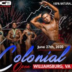 Natural Bodybuilders from around the country compete at the 2020 OCB Colonial Open in Williamsburg - June 27, 2020