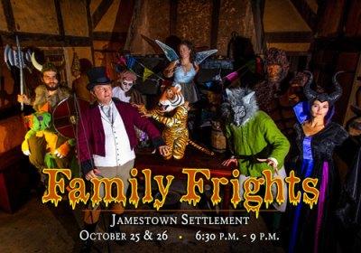 family frights at Jamestown Settlement